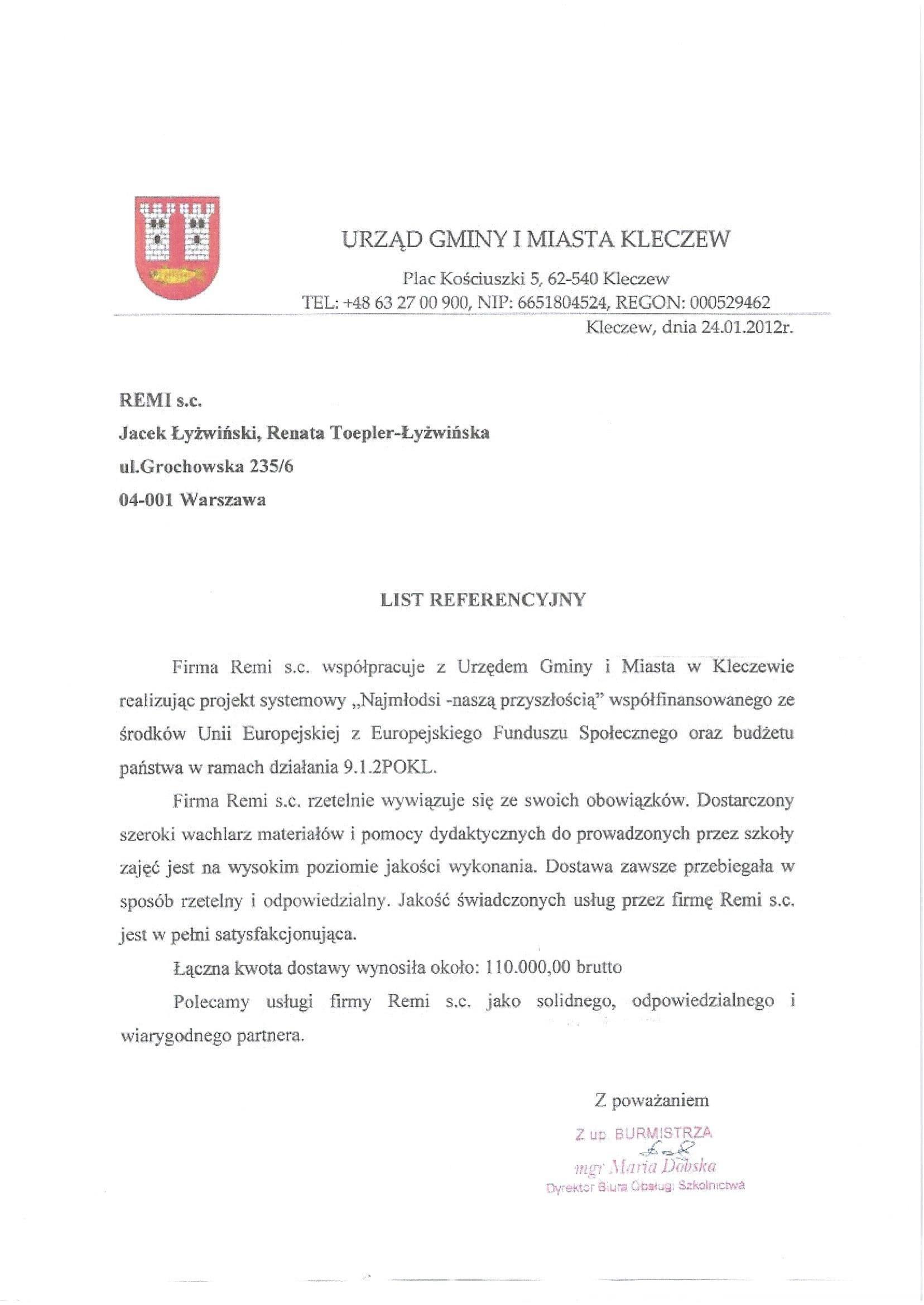 Gmina i miasto Kleczew