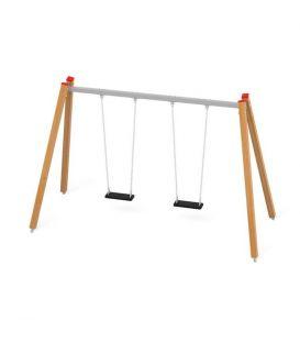 31207 Huśtawka podwójna, nogi drewniane