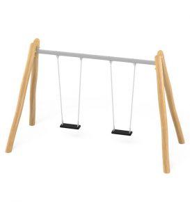 31222 Huśtawka drewniana, metalowa belka